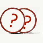 איור של מטבעות עם סימני שאלה
