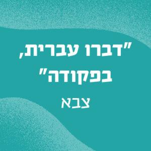 באנר עם הכיתוב דברו עברית בפקודה - צבא