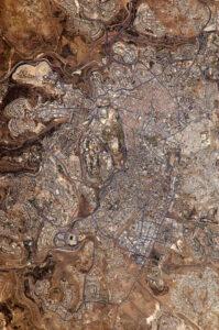 ירושלים - תמונת לווין