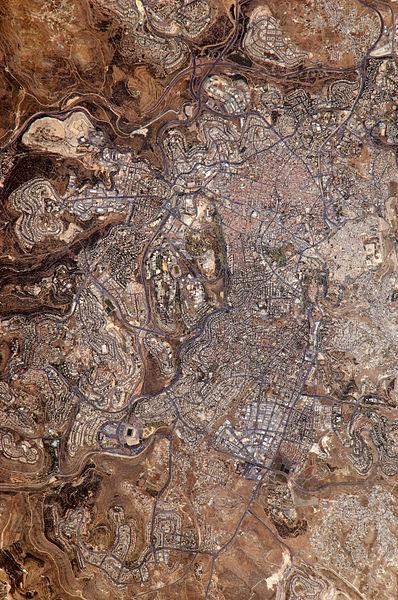 צילום של ירושלים - מתמונת לווין