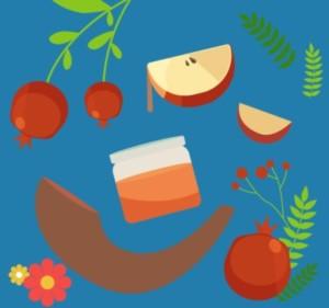 שופר, דבש, תפוח, רימון, ראש השנה