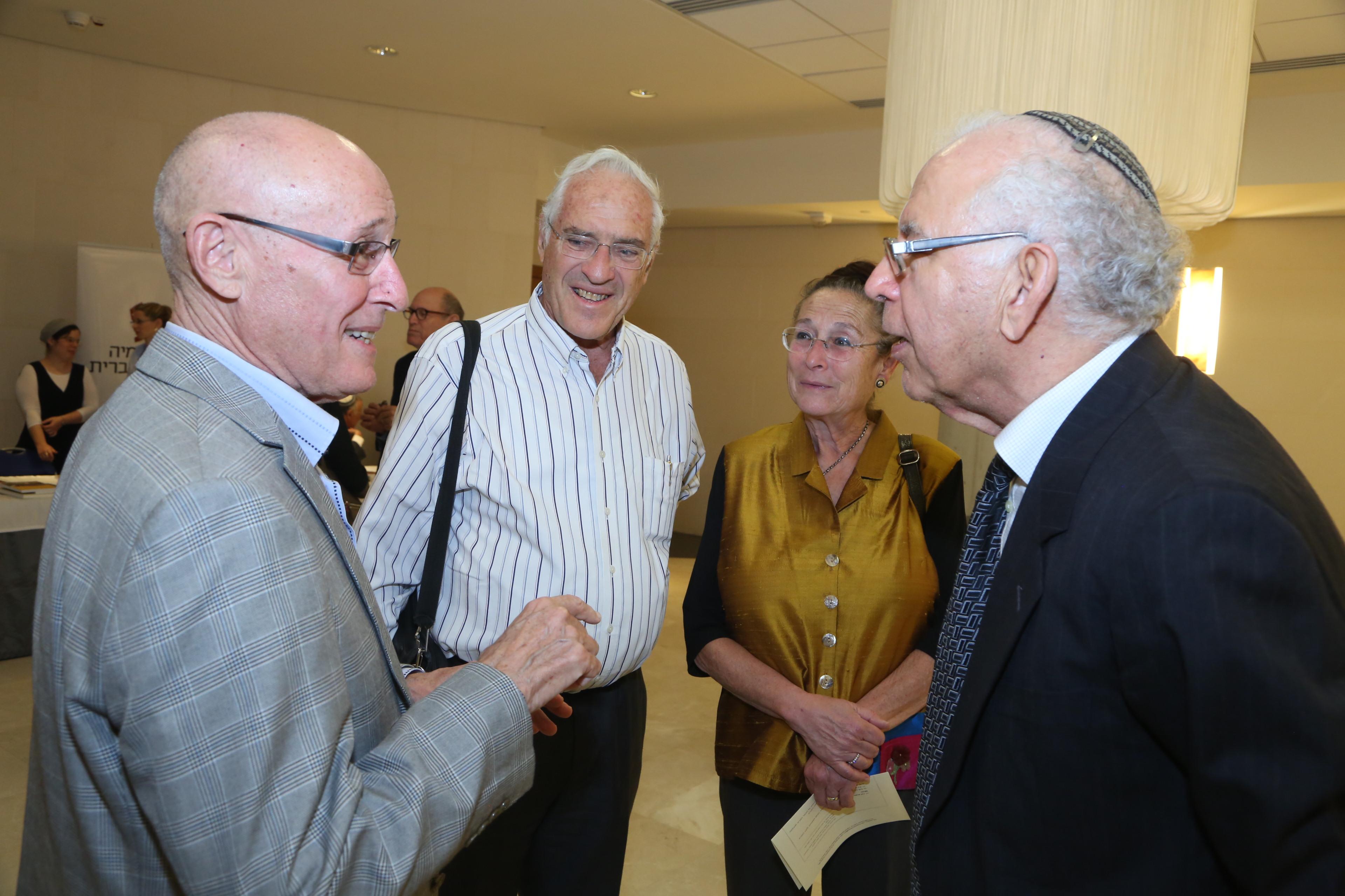 פרופ' משה בר-אשר, רותי גימון, פרופ' צבי גימון, ?