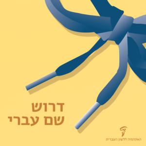ציור של קצהו של שרוך - הכיתוב: דרוש שם עברי