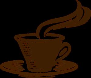 איור של כוס קפה מהביל