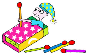 ילד בתוך קופסת גפרורים אוחז בגפרור - איך מקטינים בעברית?