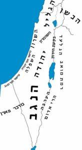 איור מפת ארץ ישראל