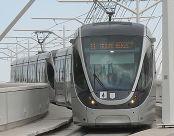 צילום של הרכבת הקלה בירושלים