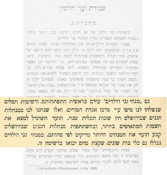 מפרסומי ועד הלשון, מחברת שלישית, עמ' 11