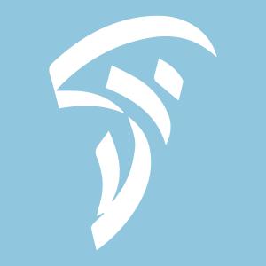 סמליל האקדמיה בצבעי תכלת לבן